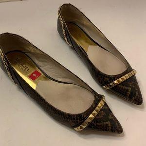 MICHAEL Michael Kors Brown Leather Ballet Flat 9